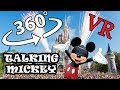 Meeting Talking Mickey Mouse Orlando Florida Disney World Magic kingdom 360 Video VR Virtual Reality