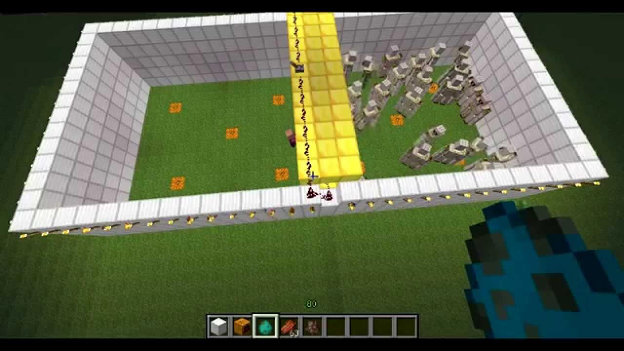 Minecraft combat iron golem vs zombie youtube - Minecraft golem de fer ...