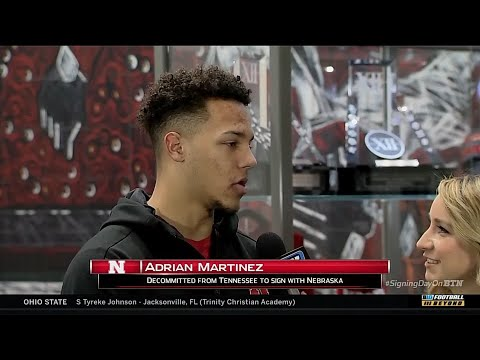 Adrian Martinez Talks Signing with Nebraska