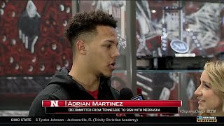Adrian Martinez Talks Signing with Nebraska on BTN