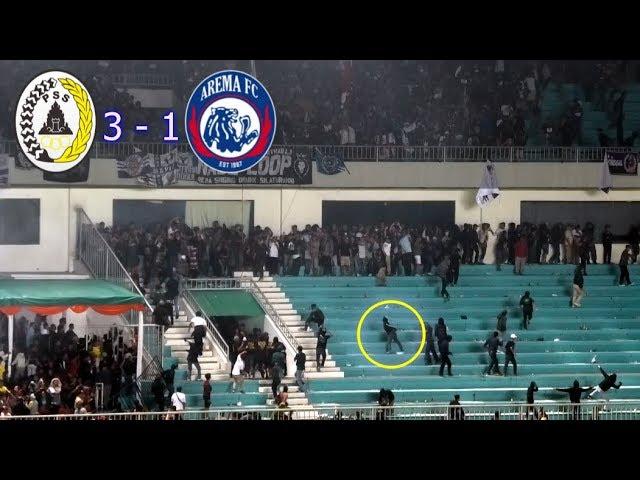 Detik-Detik Kericuhan Suporter PSS Sleman Vs Arema FC Shopee Liga 1 Live Stadion Maguwoharjo