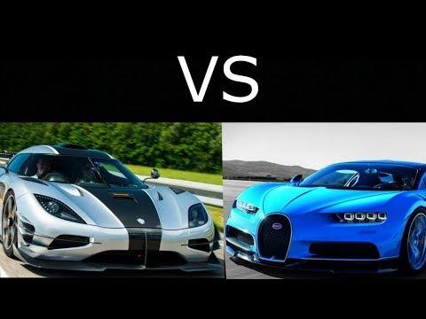Koenigsegg One:1 vs Bugatti Chiron Part2 Review