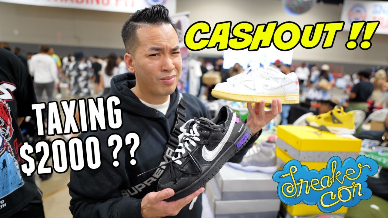 CASH OUT AT SNEAKERCON CHICAGO DAY 2 | TAXING $2000 OFF WHITE DUNK LOT 1 & 50
