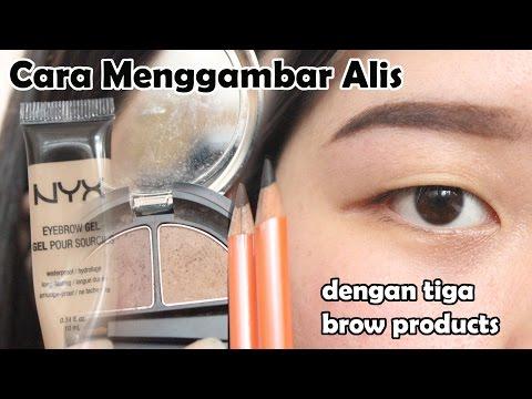 Cara Menggambar Alis (Pensil, Powder, Gel Eyebrow)