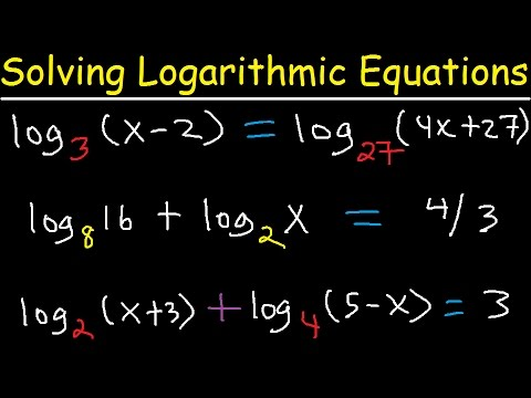 Solving Logarithmic Equations With Different Bases Algebra 2