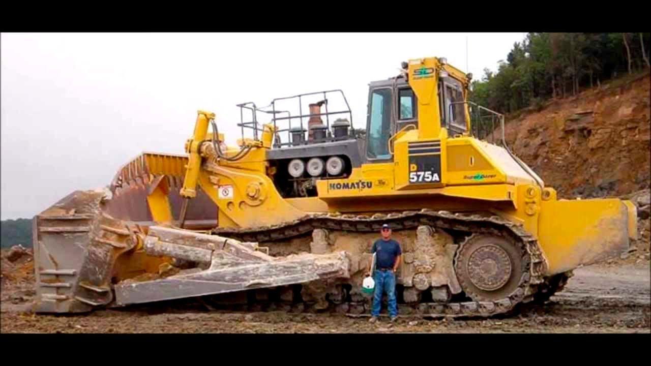 the biggest bulldozer in the world komatsu d575a super dozer youtube
