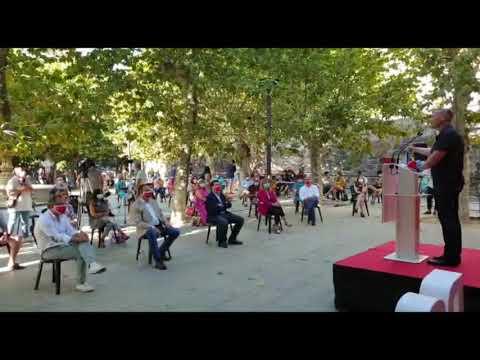 El ministro de Transportes, José Luis Ábalos, participa en un mitin del PSOE en Ourense