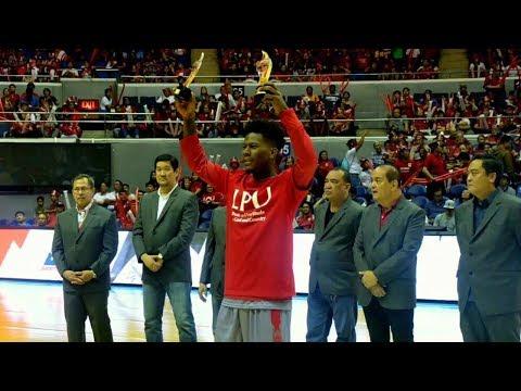 CJ PEREZ NCAA SEASON 93 MOST VALUABLE PLAYER! - NCAA SEASON 93 AWARDS