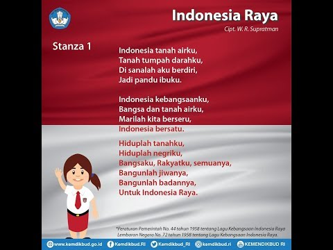 Lagu Indonesia Raya 3 Stanza dan Instrumen