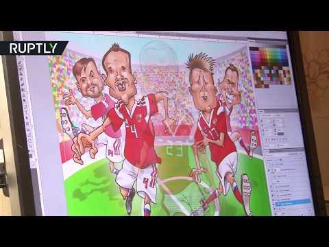 «Нарисовал победителями»: художник из Ростова сделал карикатуры на российскую сборную