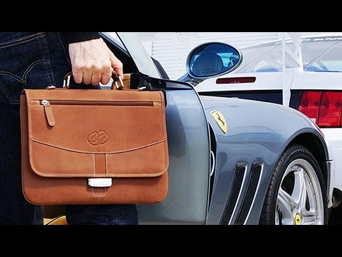 Premium Leather iPad Pro Briefcase by MacCase