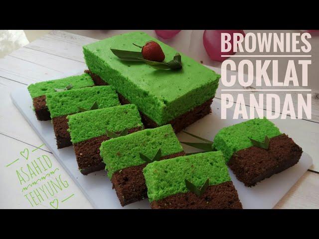 Cara Membuat Brownies Coklat Pandan yang Enak