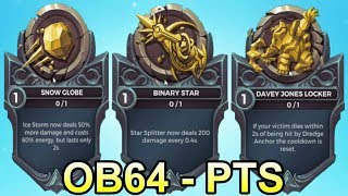 ALL 34 NEW OB64 Legendary Cards (Level 1) - Paladins PTS