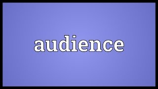 Audience Meaning