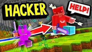TROLLING A PvP HACKER!! (Minecraft Server Trolling)