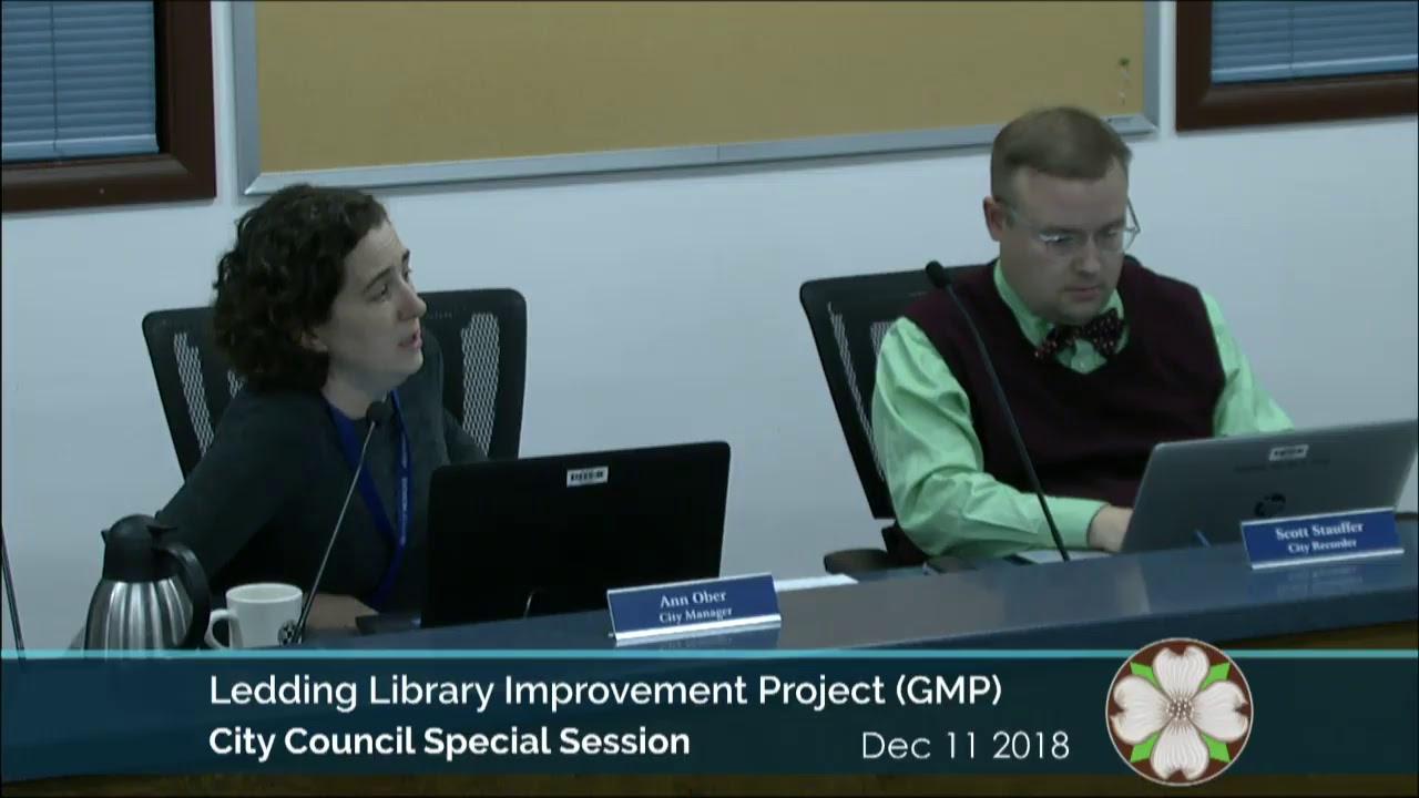 City Council Meeting December 4, 2018