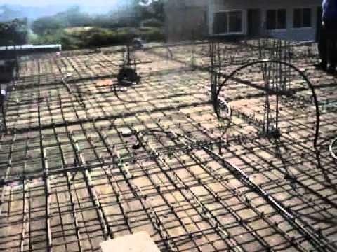 Armado con varilla para colado de losa de concreto 03 for Como hacer una piscina de concreto