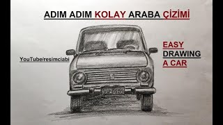 ARABA ÇİZİMİ / ADIM ADIM KOLAY ARABA ÇİZİMİ / KARAKALEM OTOMOBİL ÇİZİM