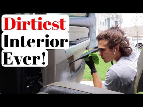 Absolutely DISGUSTING Car Interior gets a Complete Detail Makeover!