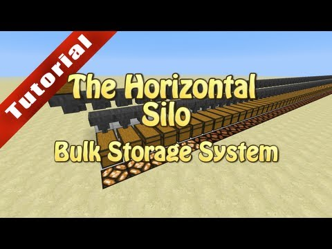 Minecraft Tutorial: The Horizontal Silo (Bulk Storage System)