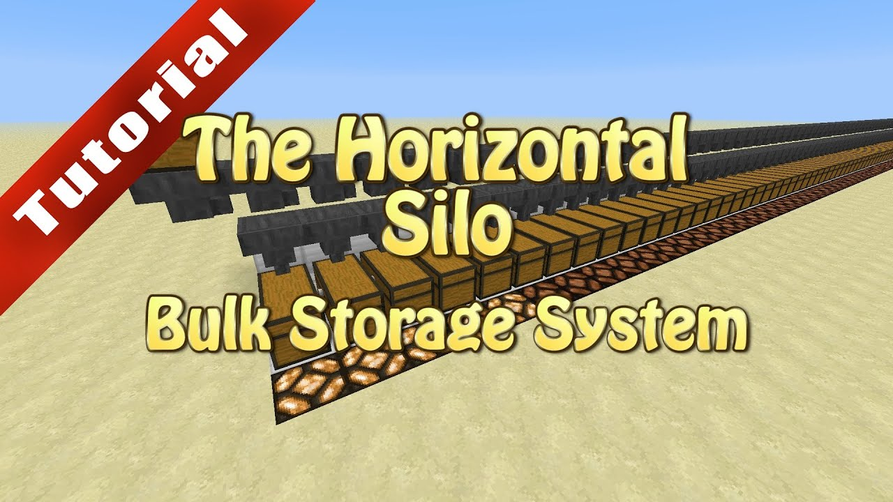 Minecraft Tutorial The Horizontal Silo Bulk Storage