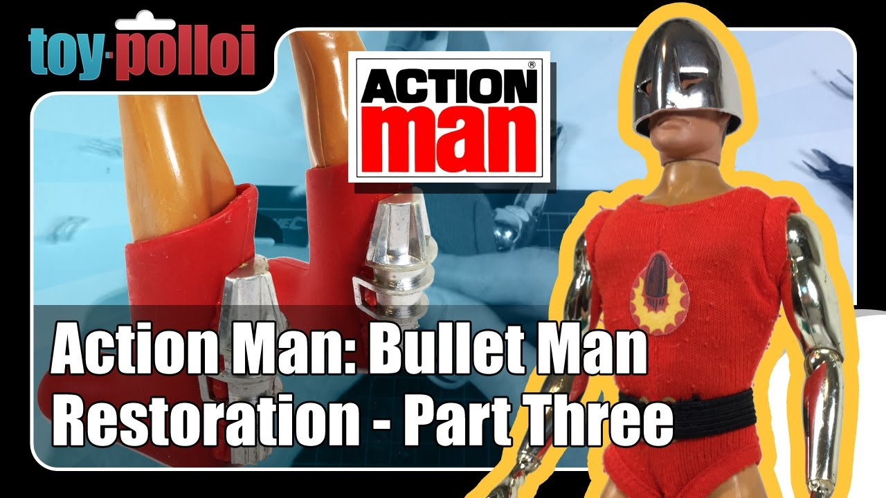 Custom Made Repro Bullet Man ~ Vintage Action Man BulletMan Rocket Jet Boots