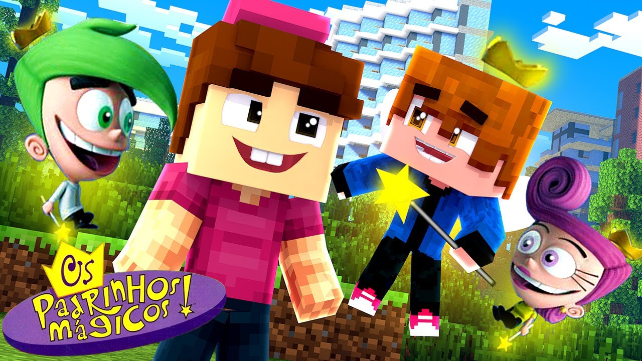 Minecraft - Who's Your Family? O FILHO DE COSMO E WANDA ! OS PADRINHOS MÁGICOS !