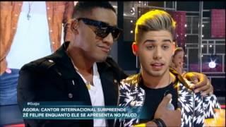 Supresa! Zé Felipe divide o palco com cantor internacional Anselmo Ralph