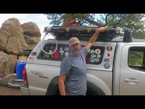 Truck Camping: 5 Gallon Roadshower Solar Powered Hot Water Pressurized Shower