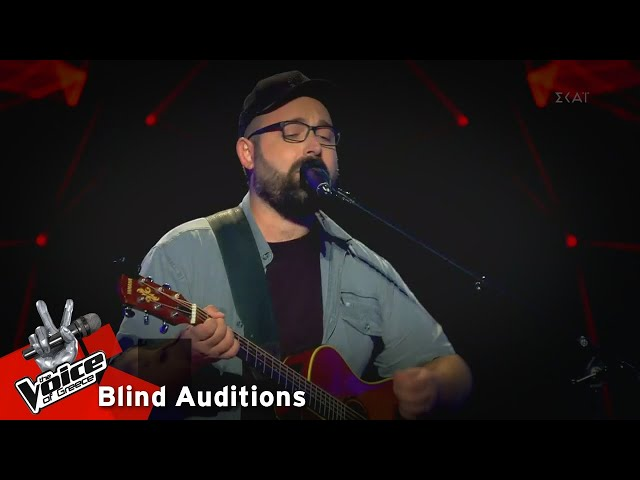 Βασίλης Λουκαδάκης - Losing My Religion | 4o Blind Audition | The Voice of Greece