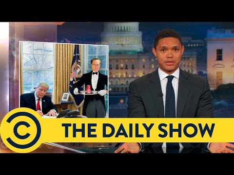 Trump Can't Stop Playing With His Big Red Button - The Daily Show | Comedy Central