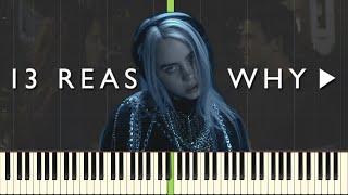 lovely - Billie Eilish & Khalid - 13 Reasons Why Season 2 [Piano Tutorial] (Synthesia)