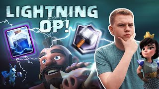 LIGHTNING OP! Hog Lightning Cycle Deck LIVE 5,200+ Ladder Gameplay - Clash Royale