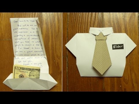 Fold a missionary card or dad birthday card or fathers day card fold a missionary card or dad birthday card or fathers day card part 1 shirt folding origami bookmarktalkfo Gallery