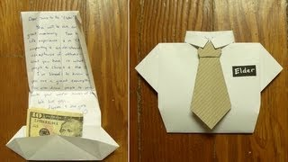 fold a missionary card ( or Dad birthday card or Father