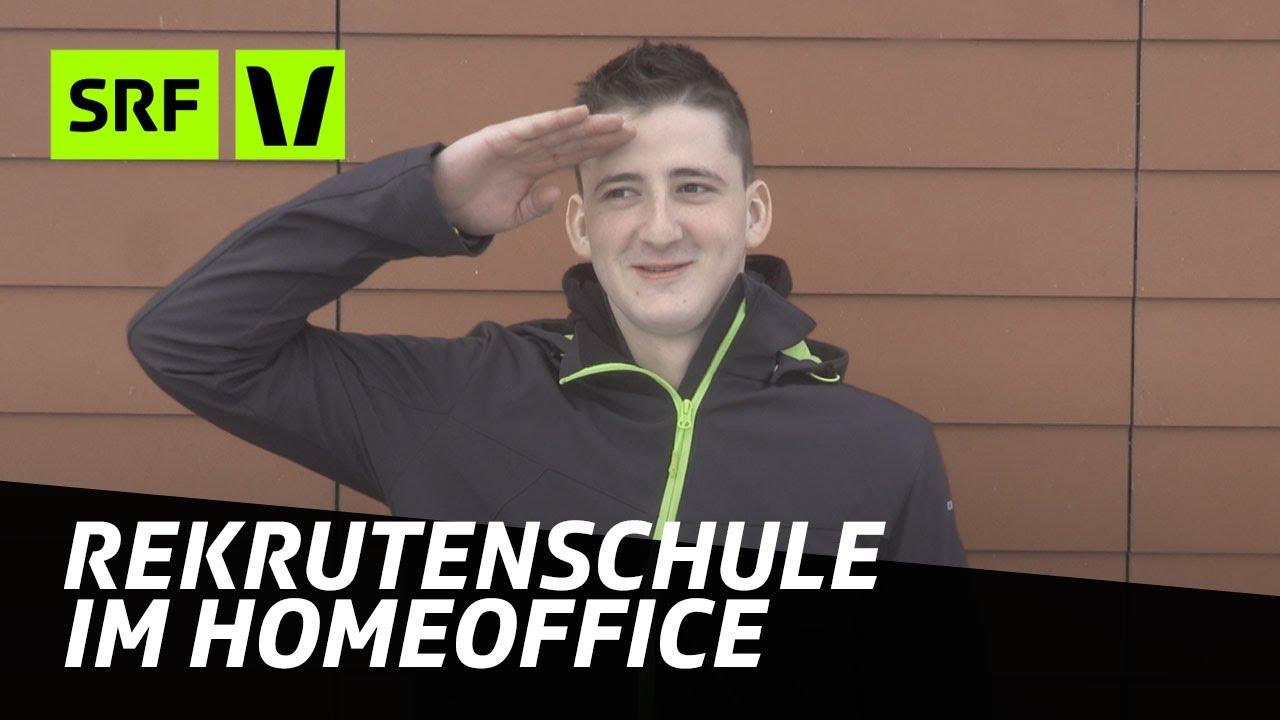 Rekrutenschule im Homeoffice: Wie ist es zuhause im Militär? | SRF Virus