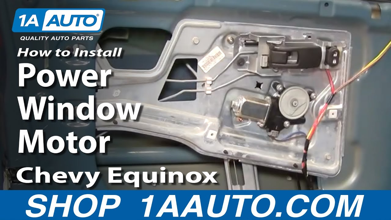 how to install replace power window motor chevy equinox 05 09 1aauto Automotive Wiring Harness at Window Wiring Harness 2009 Equinox