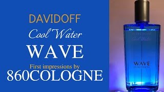 Davidoff COOL WATER WAVE Unboxing and initial impressions 2017