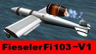 KSP Fieseler Fi 103 V1, real plane, B9 aerospace, Firespitter & SM-Pulse-Detonation-Engines