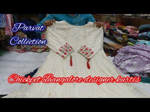 Chickpet Bangalore wholesale Designer kurtis   Single Piece Available