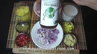 Chicken & Pineapple Recipe  - Asian Wok Coconut Milk