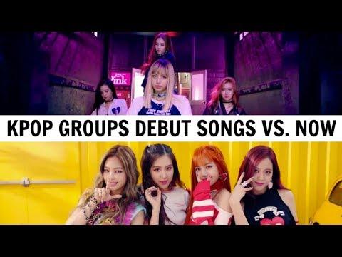 KPOP DEBUT SONGS VS. NOW | 20 KPOP Groups #2