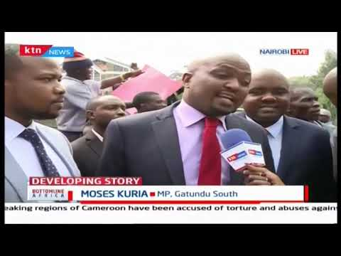 Moses Kuria threatens the government with a revolution after being roughed up by police