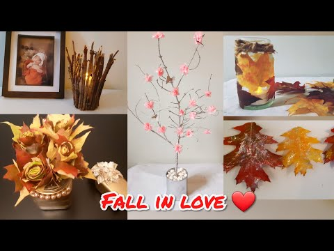 Five easy and fun fall Diy decoration ideas from nature  Preserved leaves inspired by pinterest