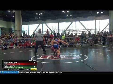 Middle School 87 Will Korth Sanderson Wrestling Academy Vs Isaiah Medina Moses Lake Wrestling Club
