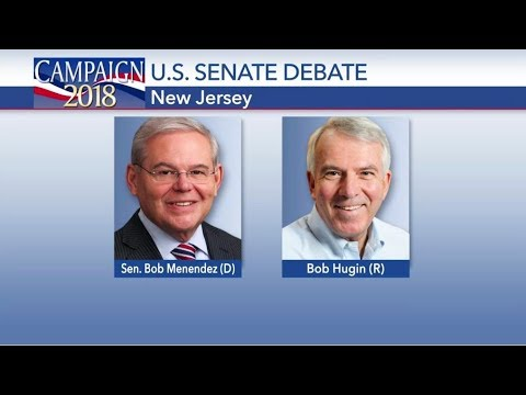 New Jersey Senate Debate Bob Menendez vs Bob Hugin Oct 24, 2018