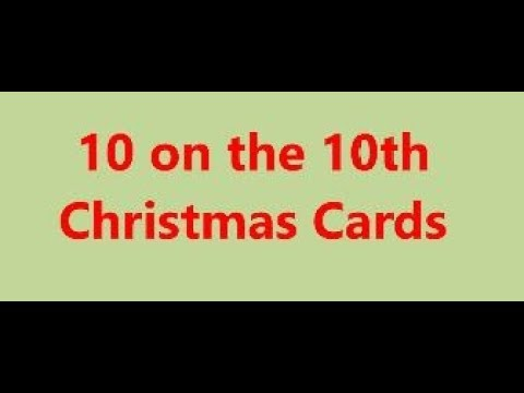 10 On The 10th - Christmas Cards - Nov 2019 With Stmpgrl  (V1222)