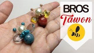 Tutorial cara membuat bros dada TAWON, bros cantik & simpel
