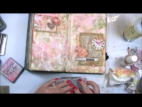 Art Journal Background Technique with Distress Oxide Inks - Mixed Media Art Journal