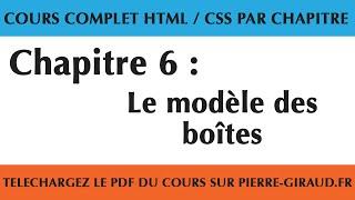 Cours Complet HTML CSS - Chapitre 6/10 : Le modèle des boîtes